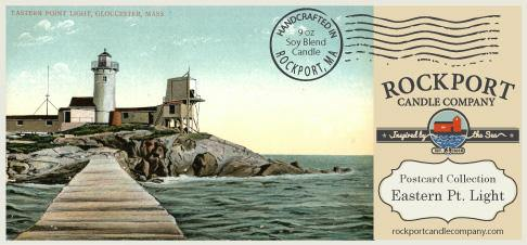 Vintage Postcard Eastern Point Light