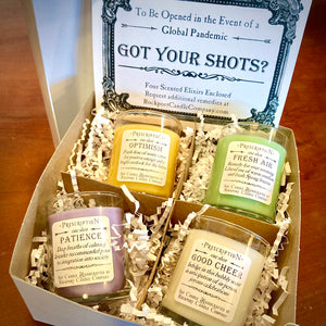 Got Your Shots boxed gift set by Rockport Candle Company