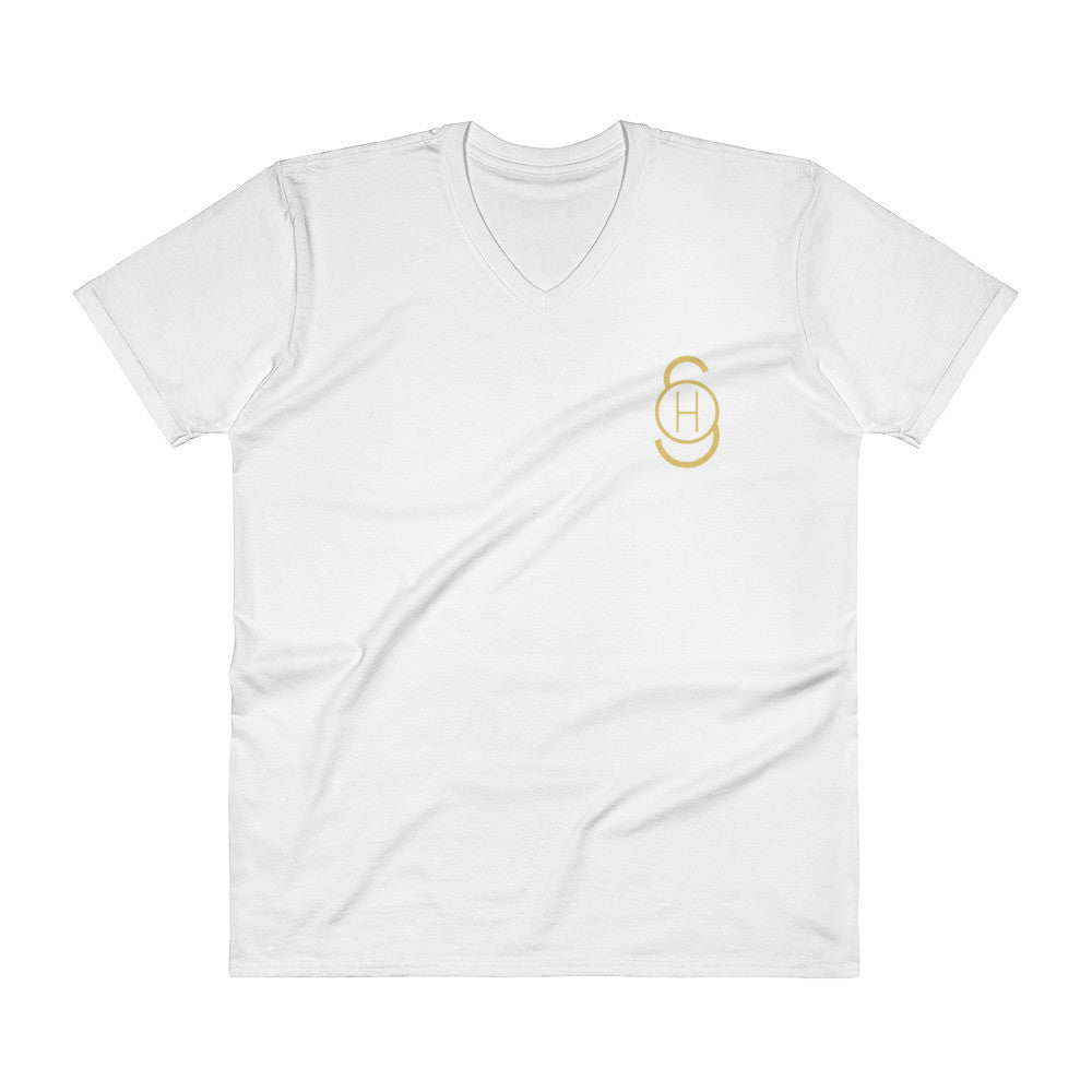 Stoked Heroes Icon Gold V-Neck T-Shirt