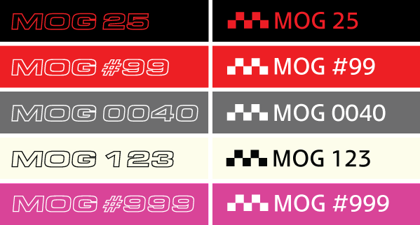 * MOG Numbered Decal *