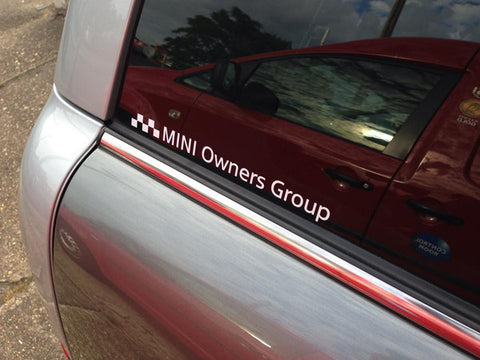 * MINI Owners Group Logo Decal *