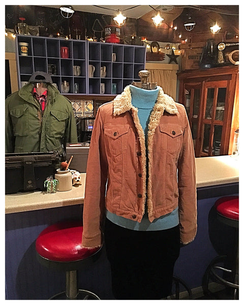 Tan Corduroy Sherpa Jacket Size Small