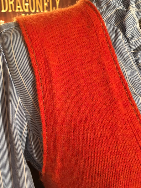 Orange Sweater Vest Size Small