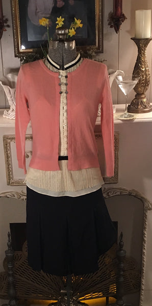 Peach Cardigan Sweater Size Small - Medium