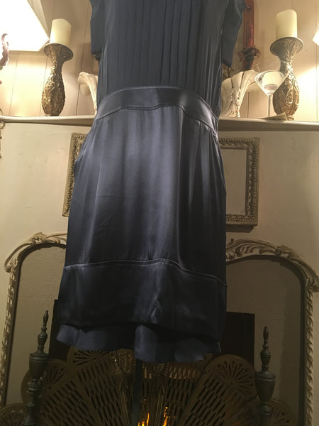 Blue Silk Dress Size 10 Large