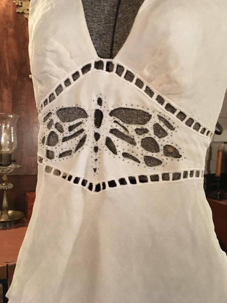 White Dragonfly Camisole Blouse Medium