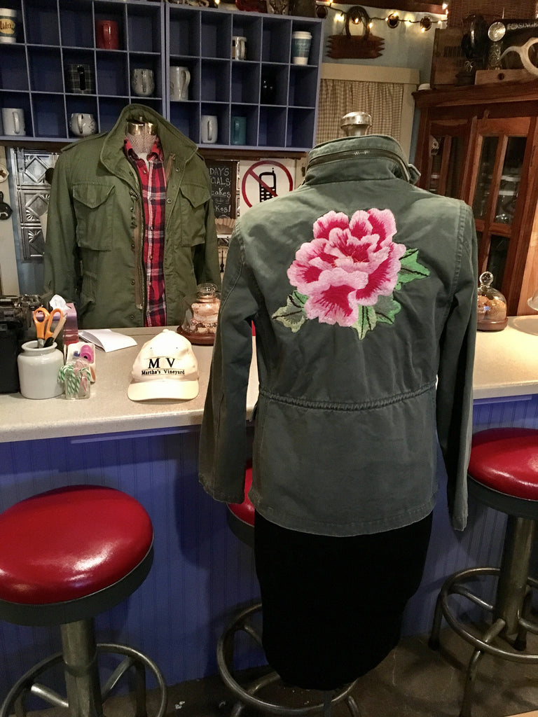 Green Rose Army Jacket Size Small