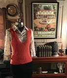 Orange Sweater Vest Size Large
