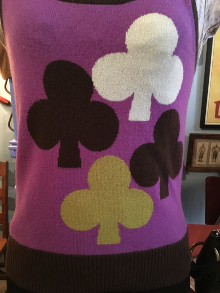 Purple Sweater Vest Size Large
