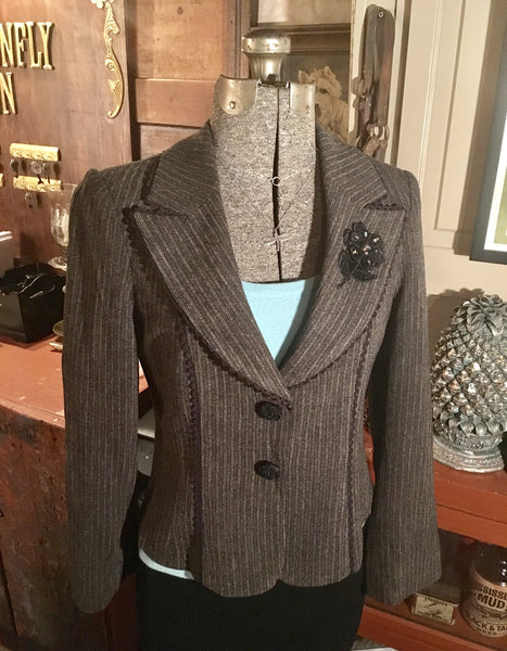 Stripe Blazer Jacket Size 6 Medium