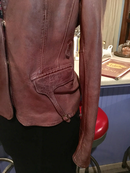 Brown Leather Dress Jacket