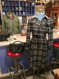 Gray Plaid Coat Size 6 Medium - Large