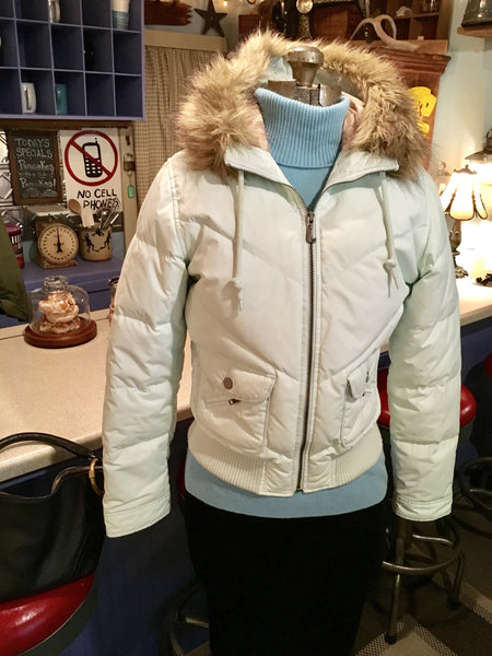 Light Blue Hooded Jacket Size Small