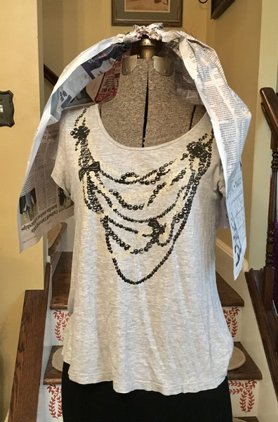 Necklace T Shirt Top Size Small Medium