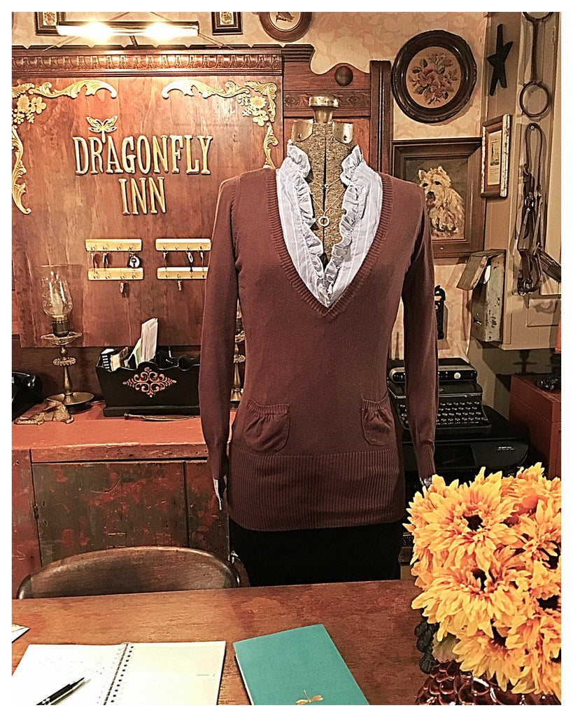 Brown pocket Sweater Size Small