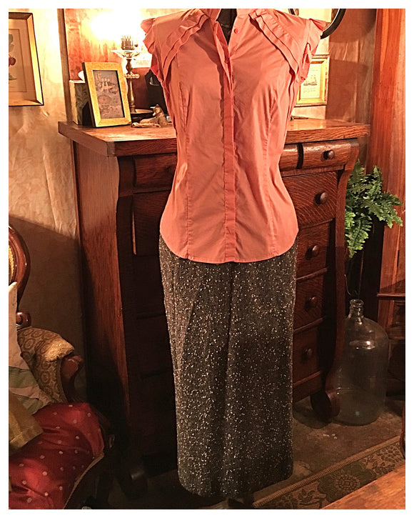Vintage Neiman Marcus Tweed Long Skirt Size 2 XS