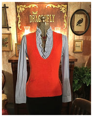 Orange Sweater Vest Size Medium