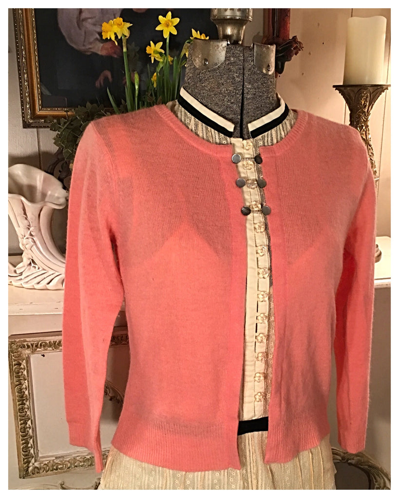 Peach Cardigan Sweater Size Small