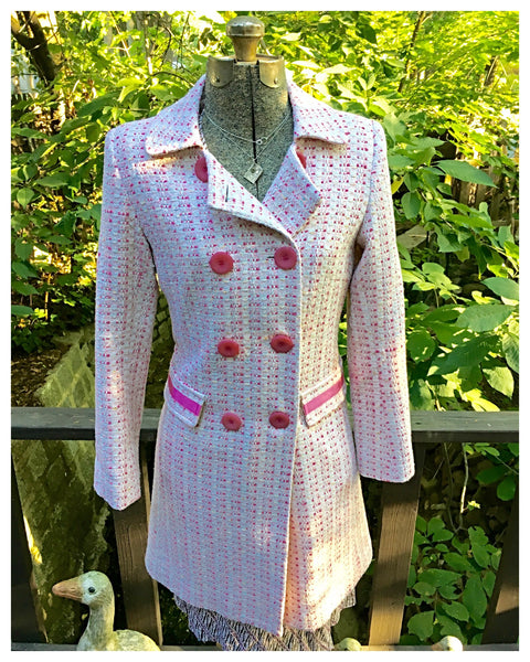 "Pink Double Breasted Coat - Sister of the ""Pink Coat"" Size 4 / 6 Small Medium"