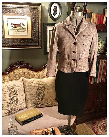 Oxford Dress Jacket Olive Size Medium