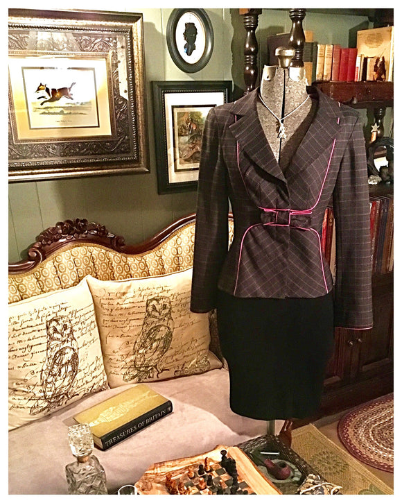 Pink And Brown Dress Jacket Size 10 Medium - Large