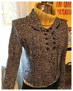 Black Tweed Jacket Blazer Size Large / Medium