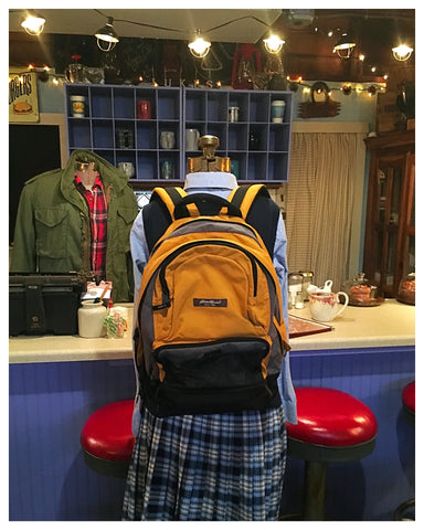 Yellow Gold Multi Compartment Backpack