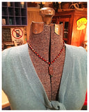 Beaded & Carved Stone Necklace