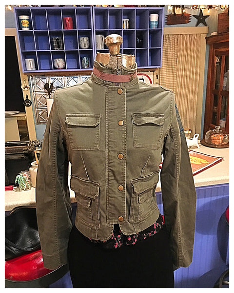 Dragonfly Stretch Army Jacket Small - Medium