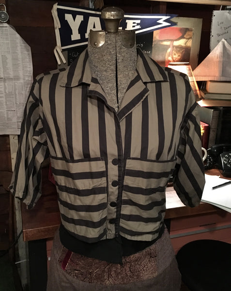 Stripe Crop Blouse Jacket Size Small Medium