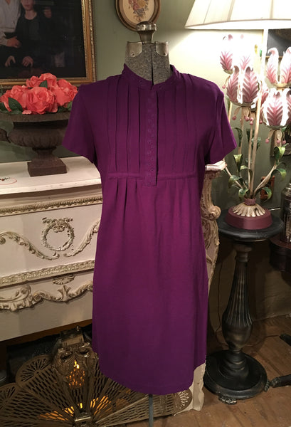 Violet Wool Dress Size 10 Large