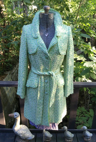 Green Tweed Coat Size Medium