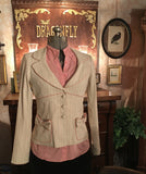 Cream Bow Pocket Blazer Jacket Size 4 Small