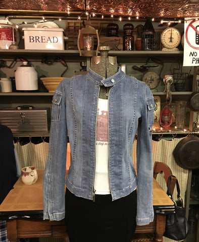 Denim Moto Jacket Size Small / Medium