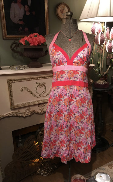 Pink Halter Dress Size 6 Small / Medium