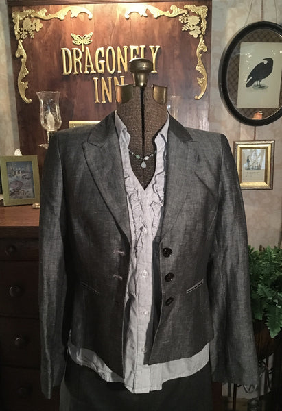 Gray Blazer Dress Jacket XS Small