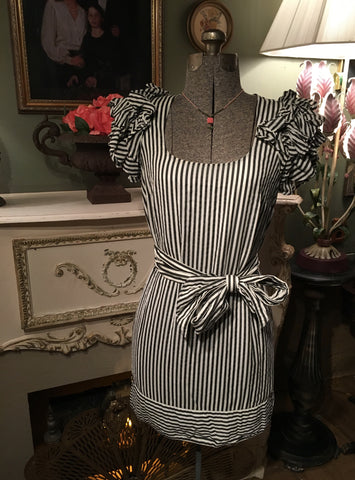 Black & White Stripe Dress Size 8 Medium / Large
