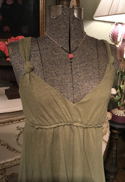 Green Grecian Jersey Dress Size Small