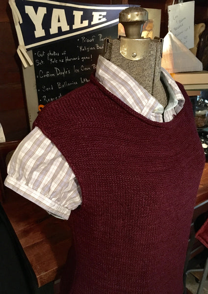 Burgundy Sweater Vest Size Medium