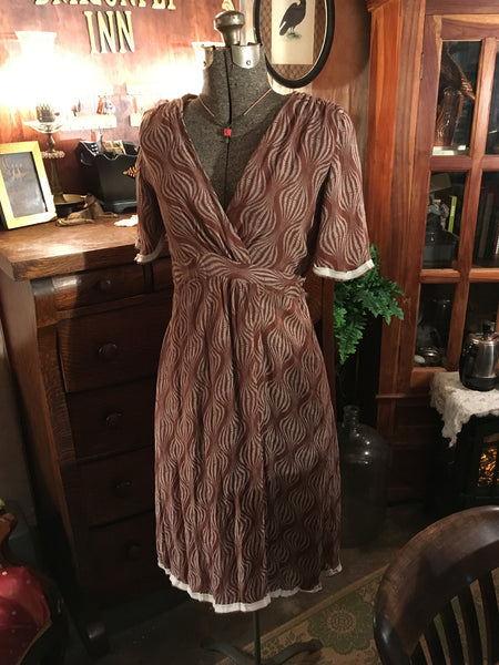 Silk Wrap Dress Size Small