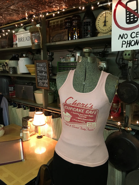 Pink Cupcake Cafe Tank Top Size Small / XS