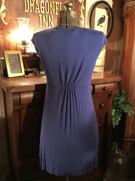 Blue Stretch Jersey Dress Small