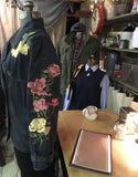 Black Rose Embroidered Jacket Size Small / Medium