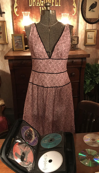 Pink and Black Lace Dress Size 4 Small