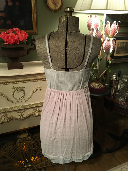 Gray Ribbon Front Dress Size Small