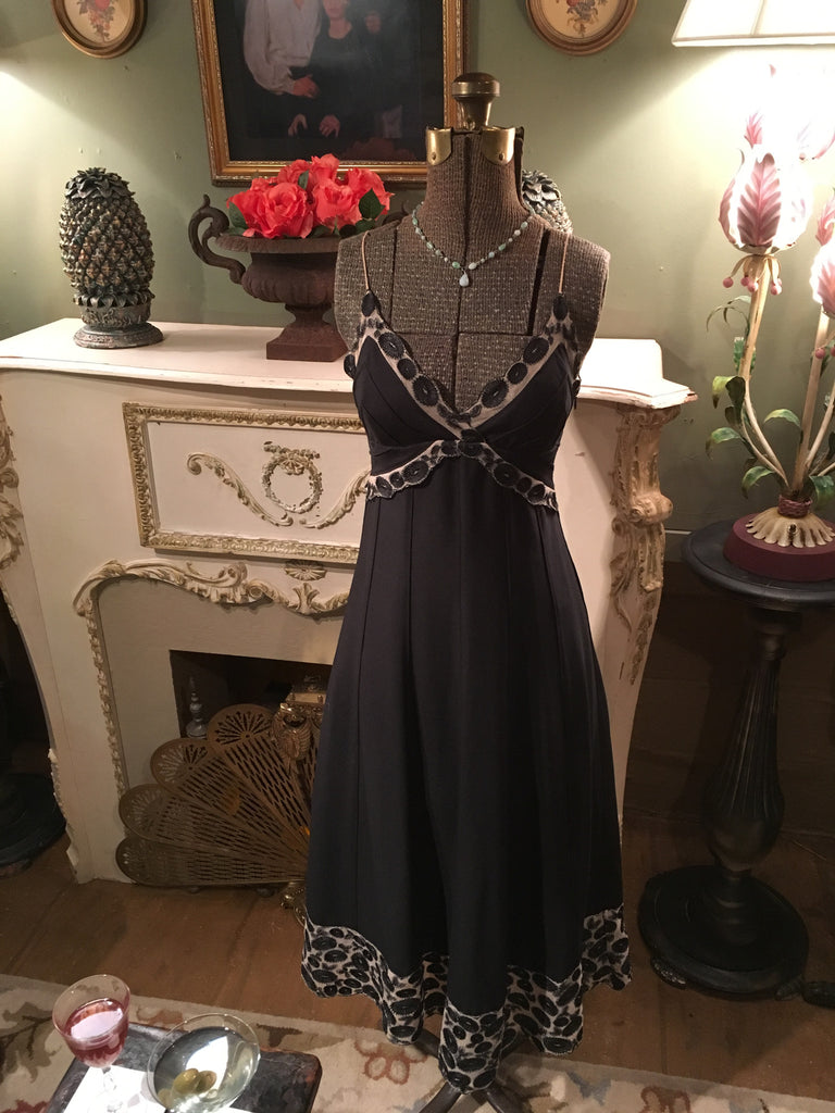 Black Silk Dress XS