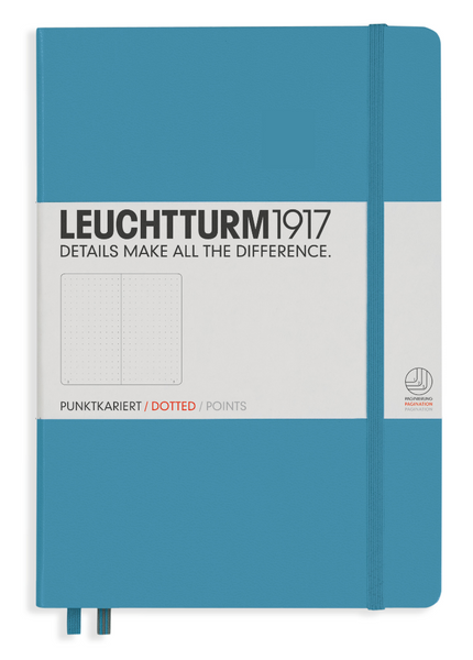 Leuchtturm 1917 A5 Dot Grid Notebook - Hard Cover - Nordic Blue