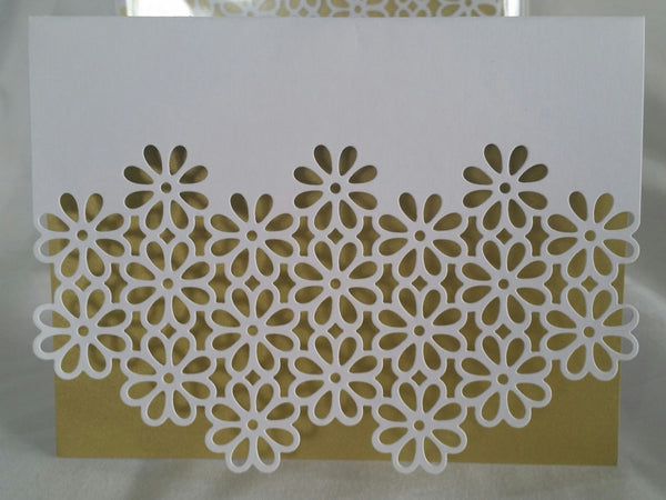 Die Cut Greeting Cards - 8 Cards