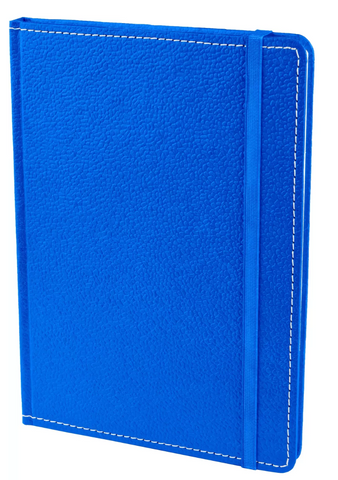 Ecoleatherette A5 Ruled Notebook - Blue
