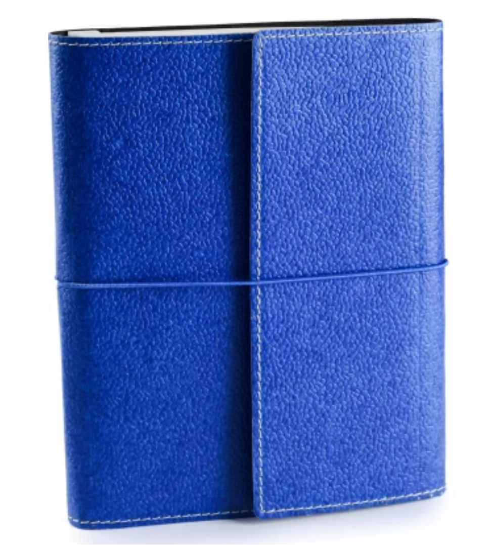Ecoleatherette A5 Ruled Journal - Denim Blue